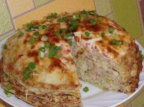 кабачково-сырный тортик