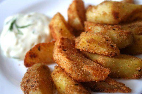 хрустящий картофель со специями